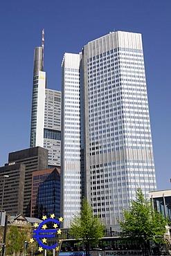 European Central Bank, banking quarter, Frankfurt/Main, Hesse, Germany, Europe