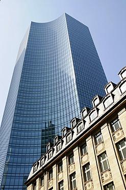 Skyper building, skyscraper, Central Station district, banking quarter, Frankfurt/Main, Hesse, Germany, Europe