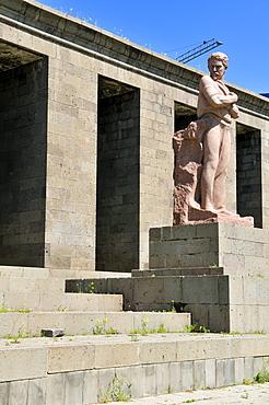 Sovjet style monument at downtown Yerevan, Jerewan, Armenia, Asia
