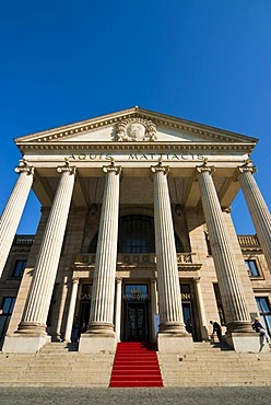 Columns portal, Kurhaus, historic spa hotel and convention center, Wiesbaden, Hesse, Germany