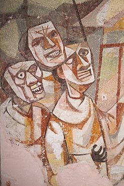 Historic town San Miguel de Allende, mural paintings, Province of Guanajuato, Mexico
