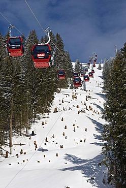 Cable car Hohe Salve, Hopfgarten, Tyrol, Austria