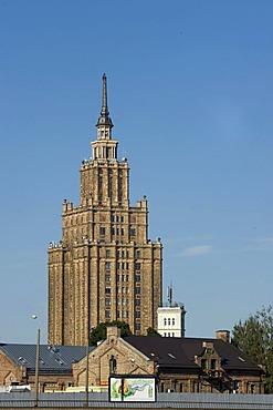 Latvian Academy of Sciences, Socialist Classicism, Riga, Latvia, Baltic States, PublicGround