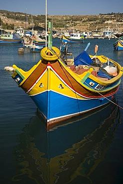 Fishing boat, Luzzu, harbour, Marsaxlokk, Malta