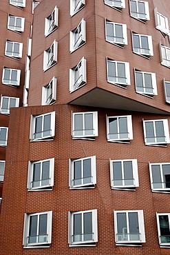 Gehry buildings, harbour, Dusseldorf, North Rhine-Westphalia, Germany, Europe