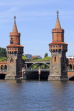 Main towers of the Oberbaumbruecke bridge, Berlin, Germany, Europe