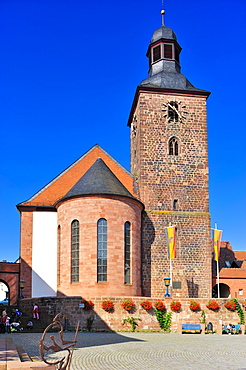City church, Annweiler, Naturpark Pfaelzerwald nature reserve, Palatinate, Rhineland-Palatinate, Germany, Europe