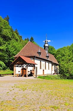 Kolmerberg-Kapelle chapel, Kolmerbergkapelle, Doerrenbach, Naturpark Pfaelzerwald nature reserve, Palatinate, Rhineland-Palatinate, Germany, Europe