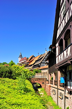 Historic centre with Liebfrauenkirche Church of Our Lady, Gernsbach, Murgtal, Black Forest, Baden-Wuerttemberg, Germany, Europe