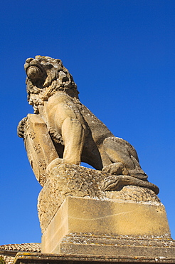 Lion scuplture, ubeda, Jaen province, Spain, Europe