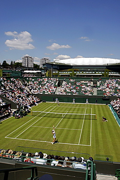 Overview on the new Court Number 2, tennis, the ITF Grand Slam tournament, Wimbledon 2009, Britain, Europe
