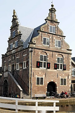 Former city hall from the 17th century, De Rijp near Alkmaar, Province of North Holland, Netherlands, Europe