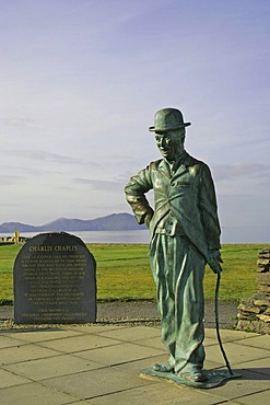 Charlie Chaplin statue, Waterville, Ring of Kerry, Kerry, Ireland
