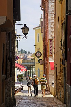 Alleyway in the Old Town, Rovinj, Istria, Croatia