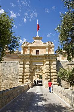 Historic city gate of Mdina, Malta, Europe