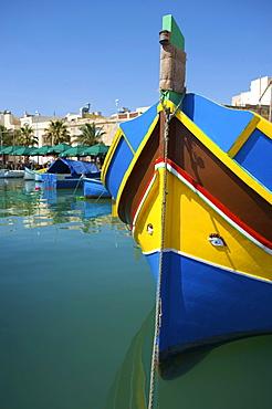 Fishing boats in Marsaxlokk, Malta, Europe