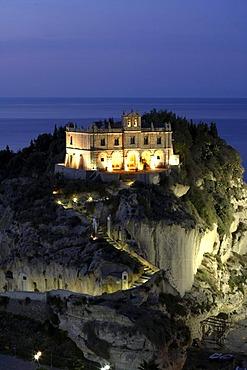 Santa Maria dell'Isola pilgrimage church, Tropea, Calabria, Italy, Europe