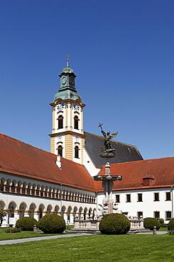 Augustinian chapter of canons monastery, Reichersberg, Innviertel, Upper Austria, Austria, Europe
