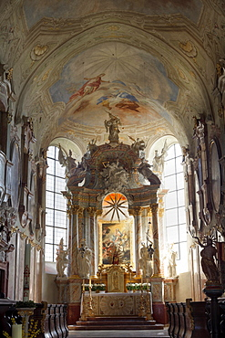 Abbey church of the Premonstratensians Chapter of canons in Geras, Waldviertel area, Lower Austria, Austria, Europe