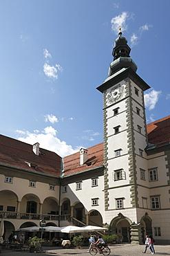 Arcade court of a country house, Klagenfurt, Carinthia, Austria, Europe