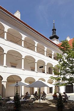 Courtyard at the Kunsthaus Horn museum, Waldviertel region, Lower Austria, Austria, Europe
