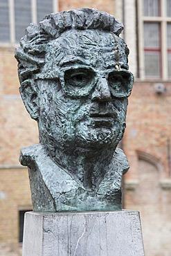 Statue of Frank van Acker, Minister van Staat Burgemeester van Brugge, Bruges, Belgium