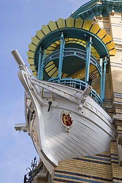 The 5 continents, The little boat, Schilderstraat and Plaatsnijdersstraat, Antwerp, Belgium