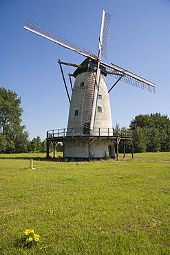 De Eenhoorn mollen, industrial mill, Scheldelaan, Lillo, Antwerp port, Belgium