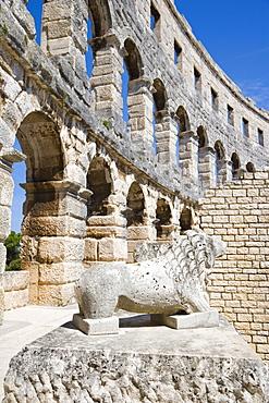 Pula Arena, Roman amphitheatre, Pula, Istria, Croatia, Europe