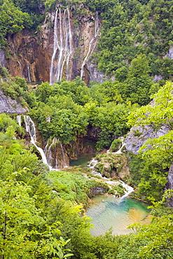 The Big Waterfall, Veliki slap, Plitvicka Jezera, Plitvice Lakes National Park, Lika-Senj, Croatia, Europe