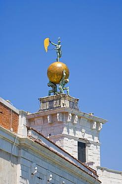 The tower of Punta della Dogana, Dogana da Mar, Maritime Customs House, Venice, Italy, Europe