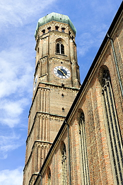 The south tower of the Frauenkirche Church of Our Lady in Munich, Bavaria, Germany, Europe
