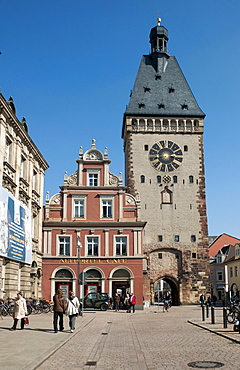 The Old Gate, Altpoertel, former western gate of the city of Speyer, one of the largest and most important town gates in Germany, Speyer, Rhineland-Palatinate, Germany, Europe
