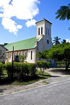 Church of La Digue, La Digue Island, Seychelles, Indian Ocean, Africa