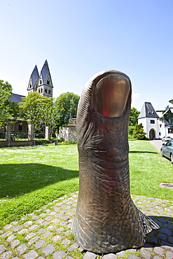 """Cesar"", Le Pouce - the thumb, since 1963 in the Ludwig Museum, on loan to the Ludwig Forum, Koblenz, Rhineland-Palatinate, Germany, Europe"