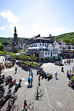 View on to Cochem, district of Cochem-Zell, Moselle, Rhineland-Palatinate, Germany, Europe