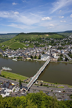 View of the city of Traben-Trarbach, quarter Trarbach, Mosel, district Bernkastel-Wittlich, Rhineland-Palatinate, Germany, Europe