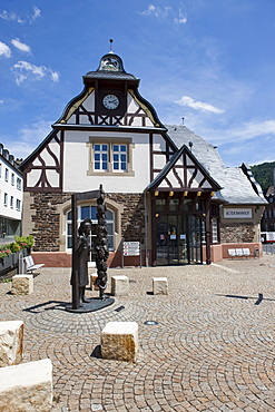 The old train station, Traben quarter, Traben-Trarbach, Mosel, district Bernkastel-Wittlich, Rhineland-Palatinate, Germany, Europe