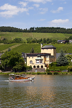 View of an old villa, district of Traben, Traben-Trarbach, Mosel river, district Bernkastel-Wittlich, Rhineland-Palatinate, Germany, Europe