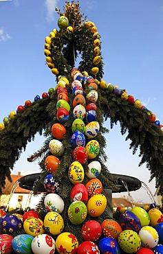 """Easter Well"", Franconian custom, Geschwand, Upper Franconia, Bavaria, Germany, Europe"
