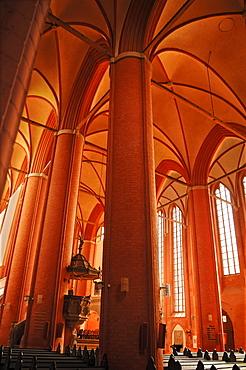 Interior of the St. Michaelis church, brick Gothic, 1412, Lueneburg, Lower Saxony, Germany, Europe