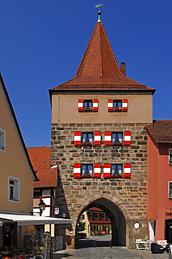 The old Hersbrucker Tor, Hersbruck gate, Lauf an der Pegnitz, Middle Franconia, Bavaria, Germany, Europe