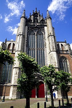 Hooglandse Chuch, a gothic church in the old city center, Leiden, province of South Holland, Zuid-Holland, Netherlands, Benelux, Europe