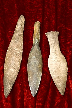 Three flint axes from the stone age