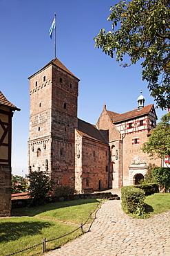Kaiserburg, emperor's castle, Heidenturm tower, historic city, Nuremberg, Middle Franconia, Franconia, Bavaria, Germany, Europe