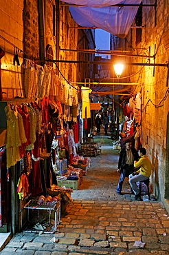 Evening mood in the bazaar of Aleppo, Syria, Middle East, Asia