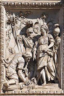 Relief on the Fontana di Trevi, Trevi Fountain, historic city centre, Rome, Italy, Europe