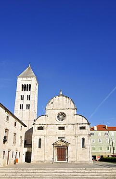 St Mary's Church, Crkva svete Marije, with Romanesque Campanile, bell tower, and Benedictine convent in Zadar, Dalmatia, Croatia, Europe