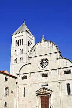 St Mary's Church, Crkva svete Marije, with Romanesque Campanile, bell tower, in Zadar, Dalmatia, Croatia, Europe