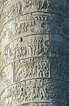 Reliefs of Trajan's Column, Trajan's forum, Via dei Fori Imperiali, Rome, Lazio, Italy, Europe